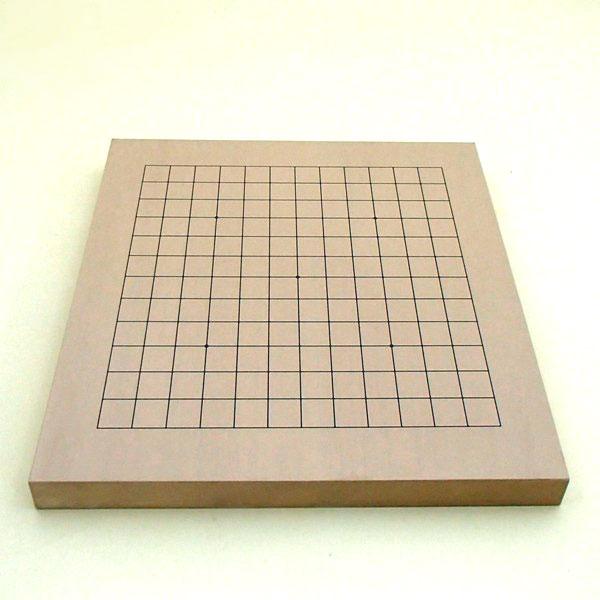 新桂10号卓上13路碁盤・将棋両用盤(裏表)碁盤面
