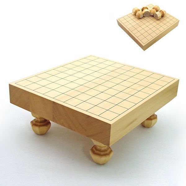 ヒバ2寸卓上・足付き兼用接合将棋盤