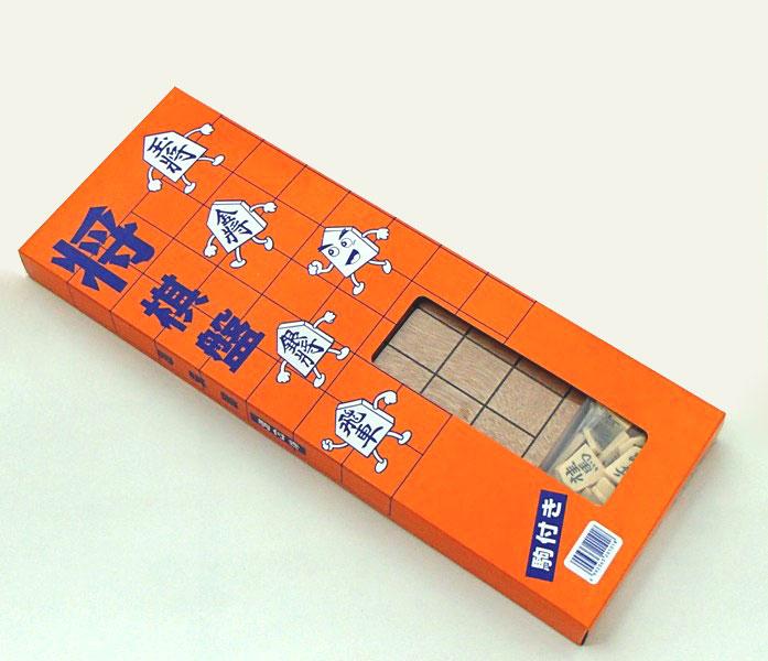 本格将棋盤プラスチック将棋駒付フルセット 外箱