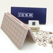 新桂4号折将棋盤とプラスチック製上駒水無瀬の将棋盤セット